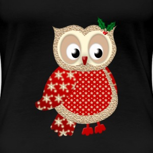Christmas Owl - Women's Premium T-Shirt
