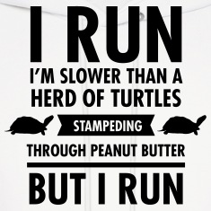I'm Slower Than A Herd Of Turtles... Hoodies