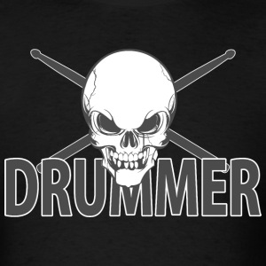 Drummer Skull - Men's T-Shirt