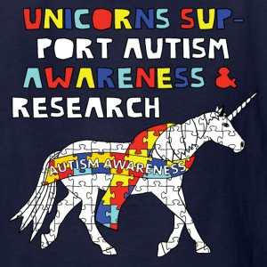 autism awareness unicorn Kids' Shirts - Kids' T-Shirt