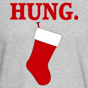 HUNG Funny Men's Christmas T-shirt - Men's Long Sleeve T-Shirt