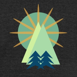 Mountain Range T-Shirts - Unisex Tri-Blend T-Shirt by American Apparel