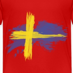 sweden flag awesome Baby & Toddler Shirts