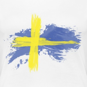sweden flag awesome Women's T-Shirts - Women's Premium T-Shirt