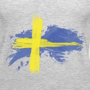 sweden flag awesome Tanks - Women's Premium Tank Top