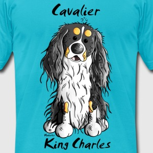 Cute Cavalier King Charles Spaniel T-Shirts - Men's T-Shirt by American Apparel