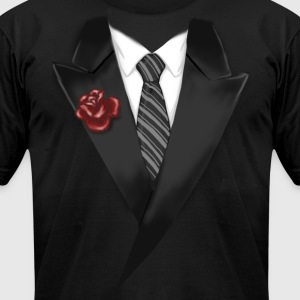 Tuxedo Tie Designs tie black T-Shirts - Men's T-Shirt by American Apparel