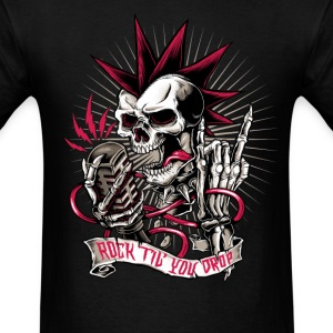 Skull rock hard heavy metal halloween biker  T-Shirts - Men's T-Shirt