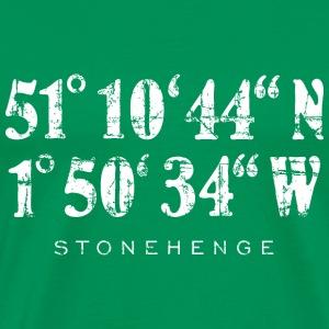 Stonehenge Coordinates Vintage White