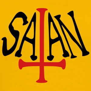 satan text cross evil logo T-Shirts - Men's Premium T-Shirt