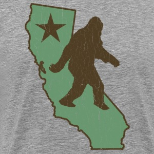 California Bigfoot (vintage distressed look) - Men's Premium T-Shirt