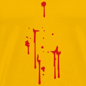 drops of blood splatter sore T-Shirts - Men's Premium T-Shirt