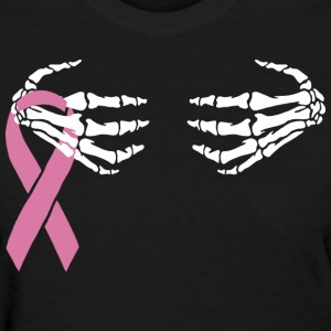Breast Cancer Skeleton Hand Scary Halloween  - Women's T-Shirt