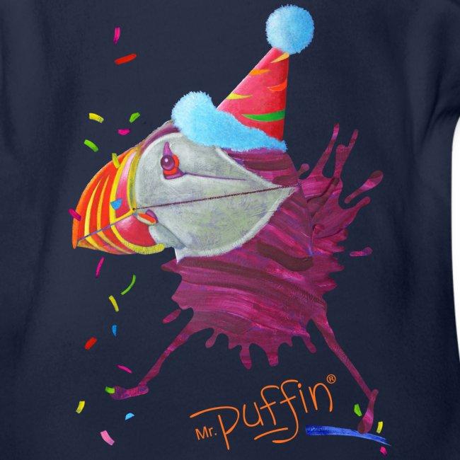 MR. PUFFIN - front print - newborn/18 months - multi colors