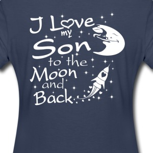 I Love My Son to the Moon and Back - Women's Premium T-Shirt