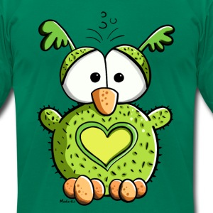 Owl In Love T-Shirts - Men's T-Shirt by American Apparel