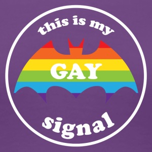 this is my gay signal LGBT Rainbow Pride Women's T-Shirts - Women's Premium T-Shirt