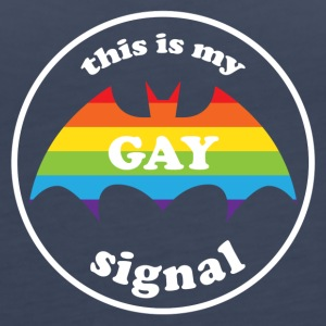 this is my gay signal LGBT Rainbow Pride Tanks - Women's Premium Tank Top