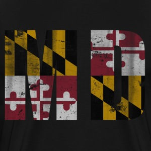 Vintage Maryland Flag MD T-Shirts - Men's Premium T-Shirt