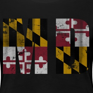 Vintage Maryland Flag MD Women's T-Shirts - Women's Premium T-Shirt