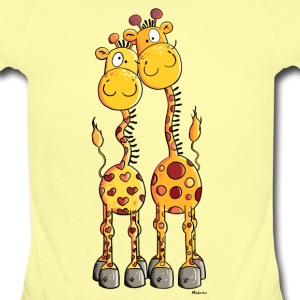 Love Giraffes Baby Bodysuits - Baby Short Sleeve One Piece