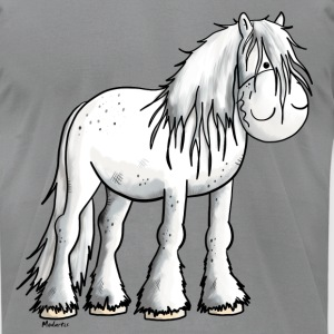 Funny white Shire Horse T-Shirts - Men's T-Shirt by American Apparel