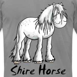 White Shire Horse T-Shirts - Men's T-Shirt by American Apparel