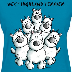 Cute West Highland White Terrier Women's T-Shirts - Women's T-Shirt
