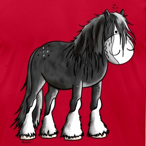 Happy Shire Horse T-Shirts - Men's T-Shirt by American Apparel