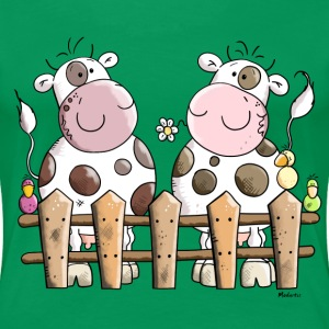 Two Happy Cows Women's T-Shirts - Women's Premium T-Shirt