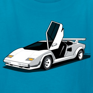 Lamborghini Countach LP500 S Art (White) Kids' Shirts - Kids' T-Shirt