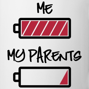 me and my parents - full and empty battery Mugs & Drinkware - Coffee/Tea Mug