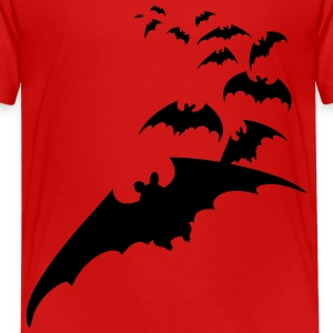 flying bats bat halloween scary creepy Kids' Shirts - Kids' Premium T-Shirt