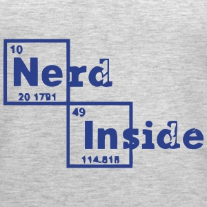 NERD INSIDE (PERIODIC TABLE) Tanks - Women's Premium Tank Top