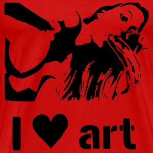 I heart art stencil T-Shirts - Men's Premium T-Shirt