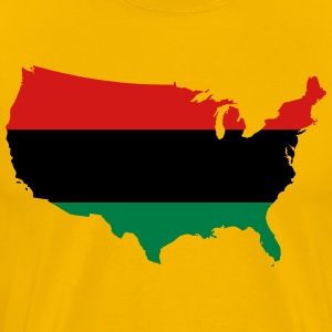 African American _ Red, Black & Green Colors T-Shirts - Men's Premium T-Shirt