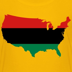 African American _ Red, Black & Green Colors Kids' Shirts - Kids' Premium T-Shirt