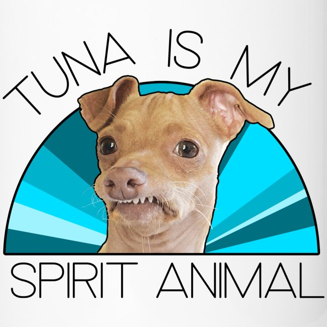 Tuna is my Spirit Animal Travel Mug (blue)