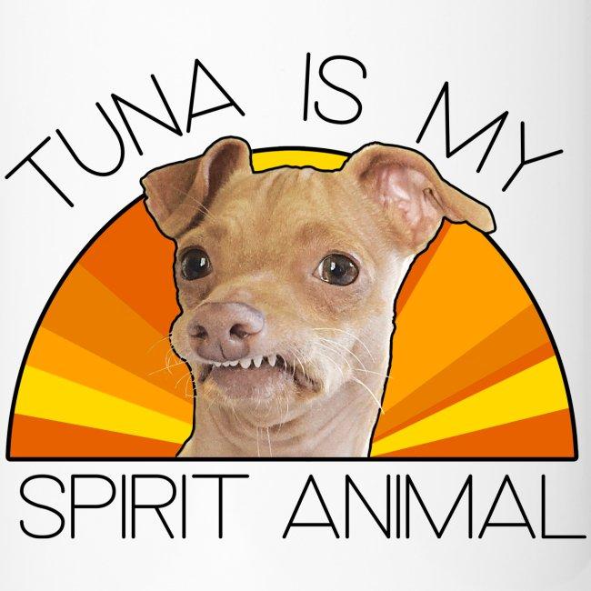 Tuna is my Spirit Animal Travel Mug (orange)