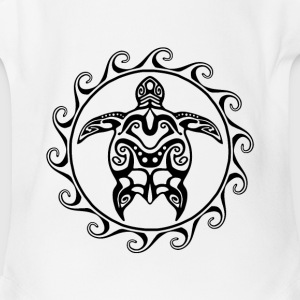 Maori Sun Turtle - Short Sleeve Baby Bodysuit