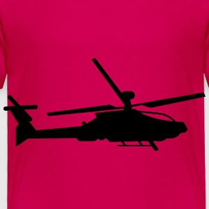 Military helicopter (silhouette) - Toddler Premium T-Shirt
