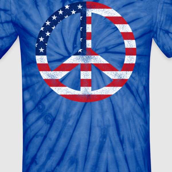 American Peace Sign - Unisex Tie Dye T-Shirt