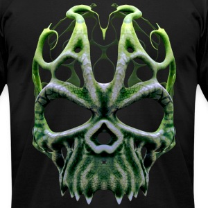 Alien Humanoid Skull Mask #1A T-Shirts - Men's T-Shirt by American Apparel