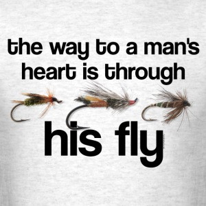 Fly Fish Man's Heart T-Shirts - Men's T-Shirt