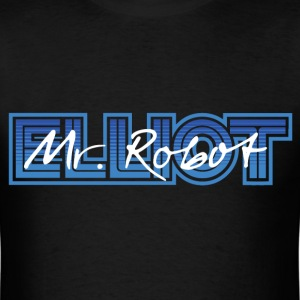 Mr Robot Elliot Blue Logo T-Shirts - Men's T-Shirt