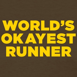 World's Okayest Runner - Women's T-Shirt - Gold Ye - Women's T-Shirt