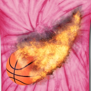 Flaming Basketball T-Shirts - Unisex Tie Dye T-Shirt