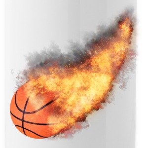 Flaming Basketball Mugs & Drinkware - Water Bottle