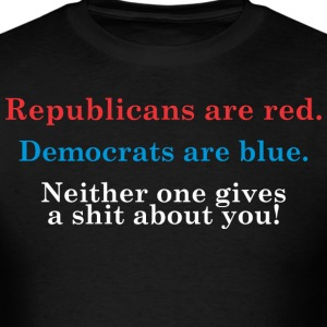 Republicans Are Red Democrats Are Blue - Men's T-Shirt