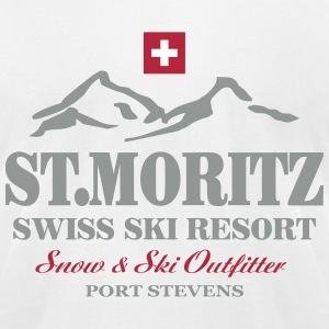St. Moritz - Swiss flag T-Shirts - Men's T-Shirt by American Apparel
